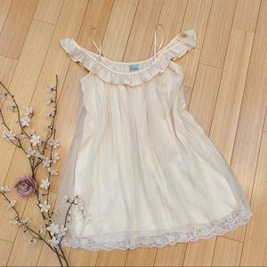 FREE PEOPLE French vanilla off-shoulder dress, S.
